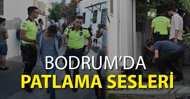 Bodrum'da ekipleri alarma geçiren patlama