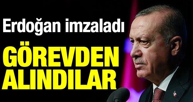 Erdoğan'ın imzasıyla yayımlandı! Görevden alındılar!