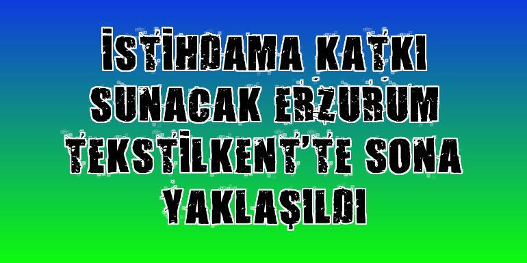 İstihdama katkı sunacak Erzurum Tekstilkent'te sona yaklaşıldı