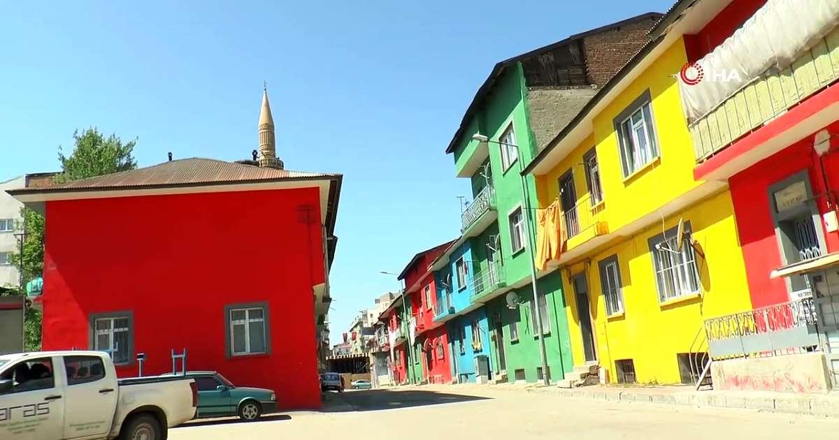 Erzurum'un rengarenk mahallesi