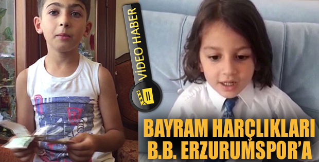 Minik taraftarlardan Erzurumspor'a destek