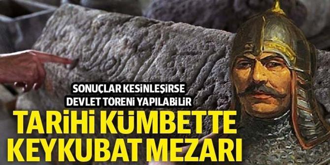 Tarihi kümbetteki mezarın Sultan Alaaddin'e ait olma ihtimali yüksek