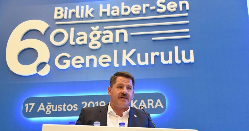 Birlik haber sen genel başkanlığına Ömer budak yeniden seçildi