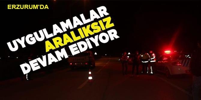 Erzurum'da asayiş uygulaması
