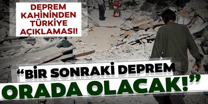 Deprem kahininden Türkiye depremi açıklaması!