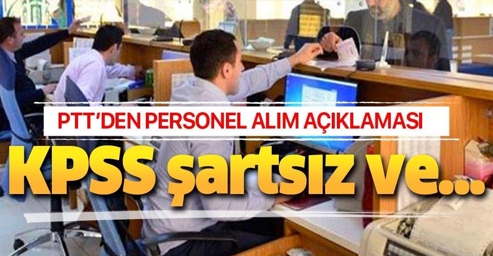 PTT'den personel alımı açıklaması