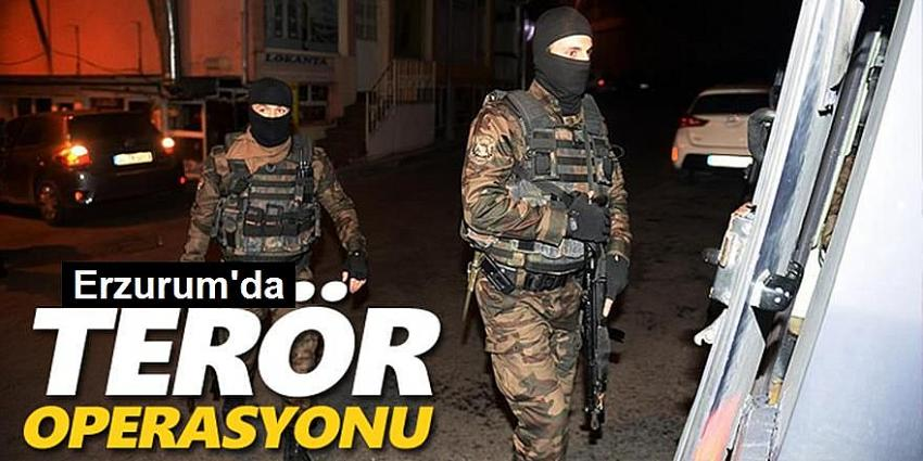 Erzurum'da terör operasyonu: 12 gözaltı