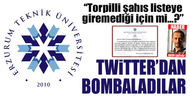 Twitter'dan bombaladılar..
