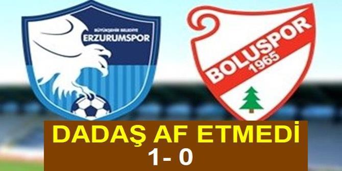 Erzurumspor: 1 - Boluspor: 0