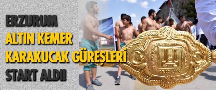 Erzurum'da Karakucak Güreşleri başladı