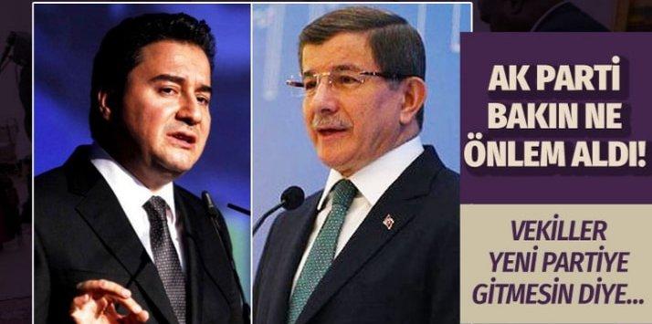 AK Parti'den Ali Babacan ve Ahmet Davutoğlu için yeni önlem!