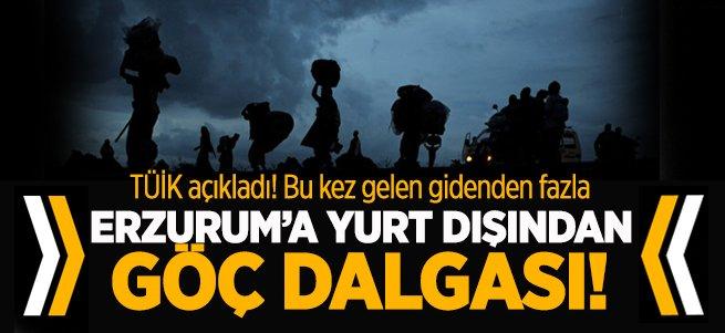 Erzurum yine göç verdi
