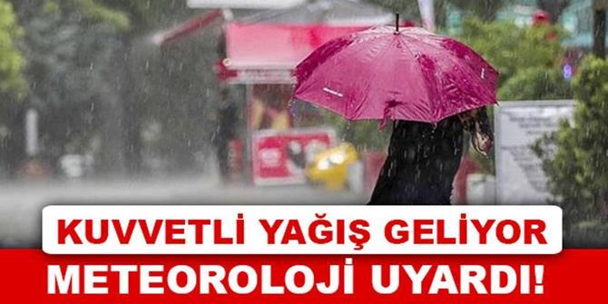 Erzurum için kuvvetli sağanak uyarısı
