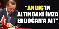 İmza Erdoğan'ın'