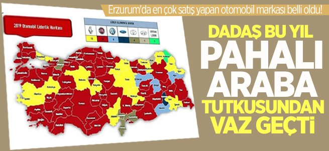 İşte Erzurum'da en çok satan otomobil markası