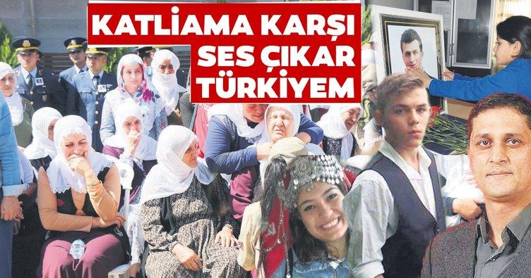 Katliama karşı ses çıkar Türkiyem