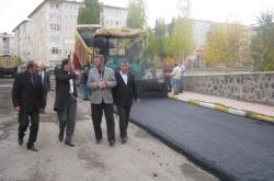 50 günde 50 bin ton asfalt