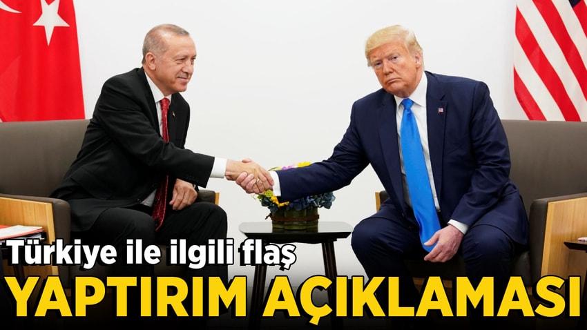 ABD Türkiye'ye yaptırım uygulamayacak'