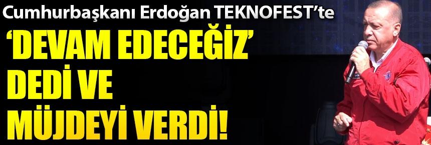 Erdoğan, TEKNOFEST etkinlik alanında açıklamalarda bulundu