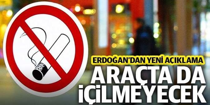 Erdoğan'dan sigara yasağı açıklaması: