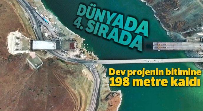 Dev projenin bitimine 198 metre kaldı