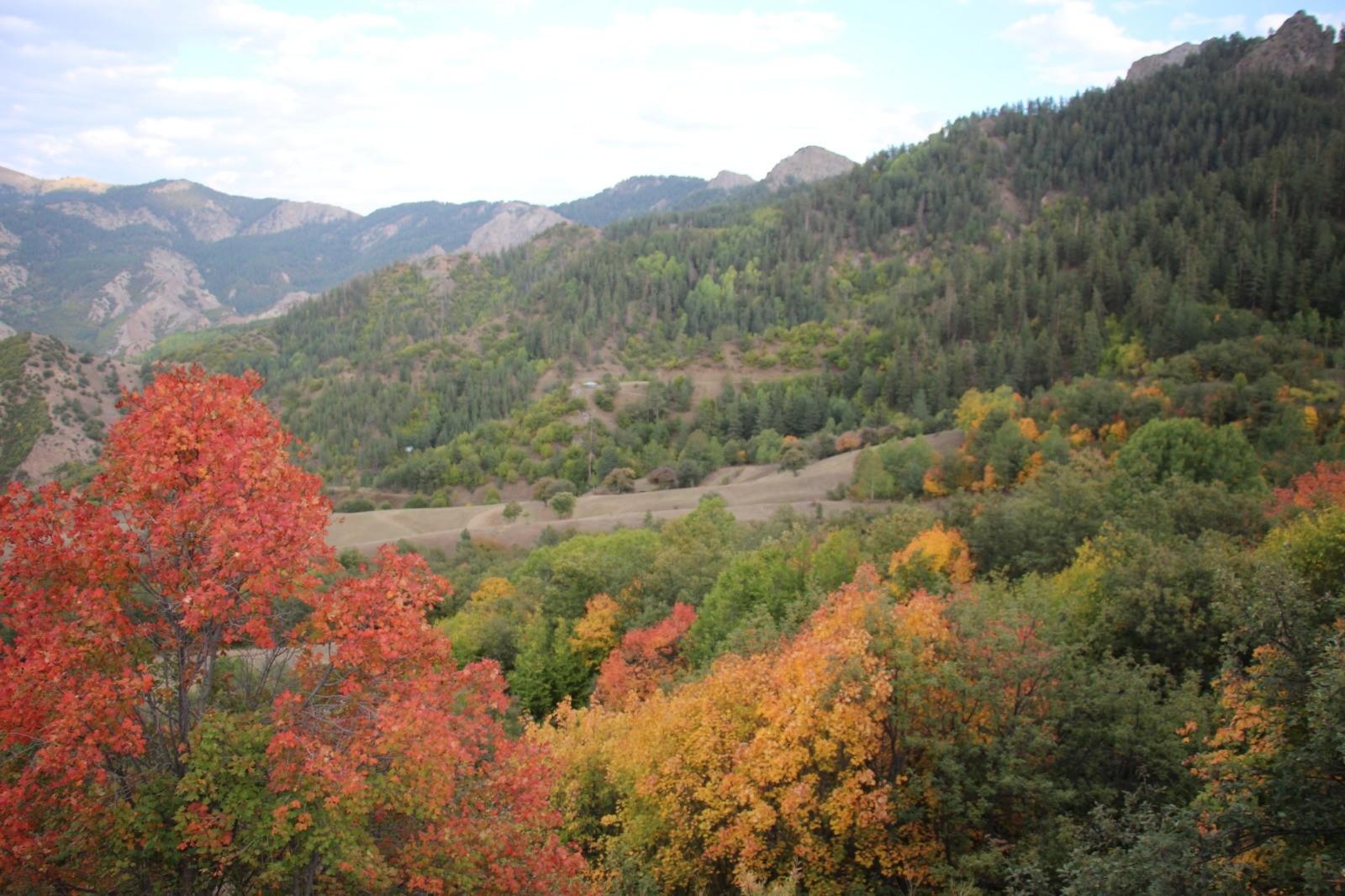 Erzurum'un köyleri sonbaharda görenleri hayran bırakıyor