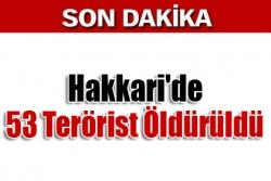 Hakkari'de 53 Terörist Öldürüldü
