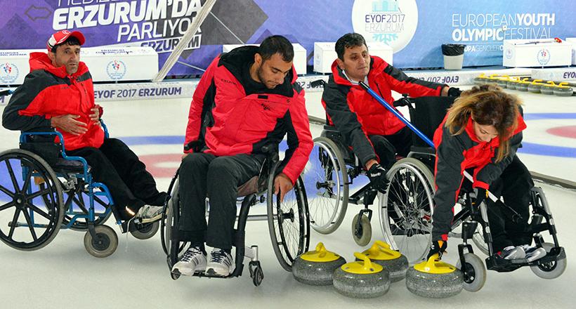 Tekerlekli Sandalye Curling Turnuvası