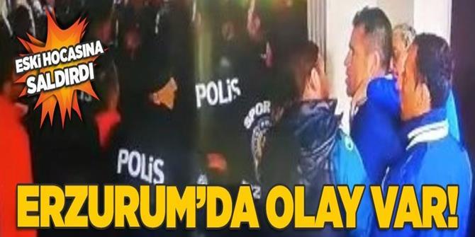 Erzurum'da olay var! Eski hocasına saldırdı.