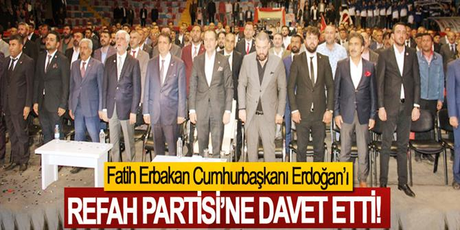Fatih Erbakan Cumhurbaşkanı Erdoğan'ı Refah Partisi'ne Davet Etti!
