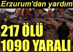 Erzurum'dan yardım yağdı!