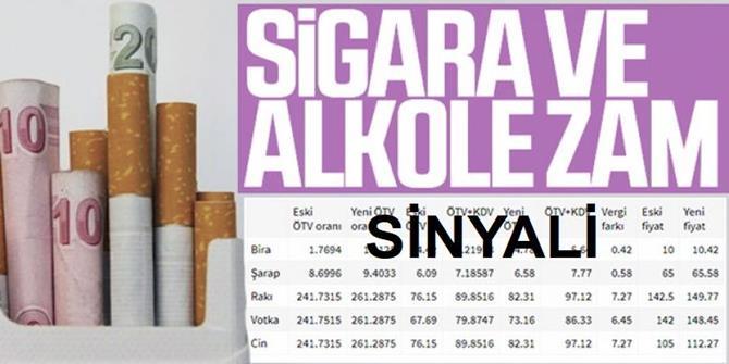'Sigara ve alkole' vergi artışı sinyali