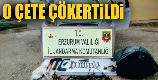 Erzurum'da iş makinası ve trafo hırsızlığı çetesi çökertildi
