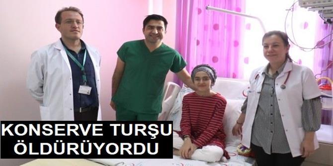 Erzurum'da Konserve turşu öldürüyordu