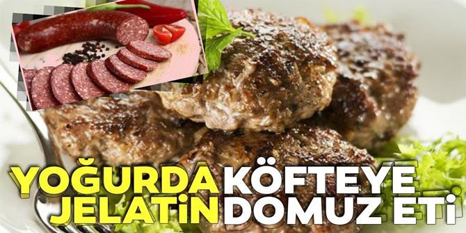 Yoğurda jelatin köfteye domuz eti