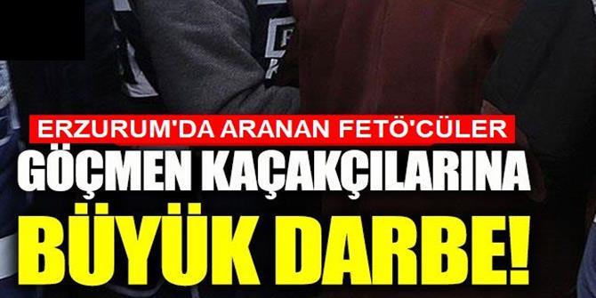 Erzurum'da aranan FETÖ'cü bakın ne yaparken yakalandılar