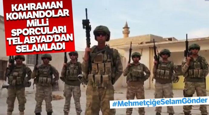 Askerlerden Türk sporculara mesaj!