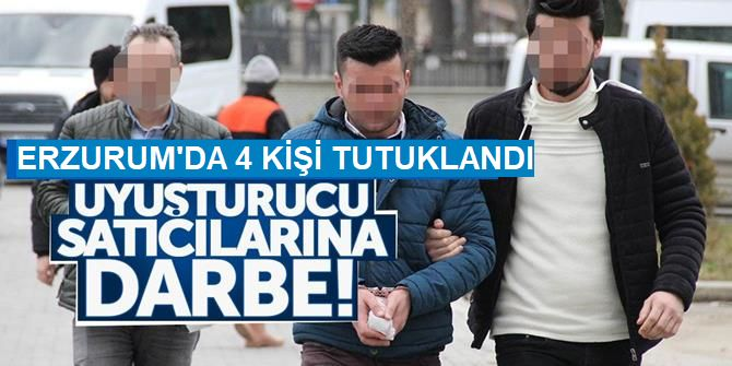 Erzurum'da 4 zanlı tutuklandı!