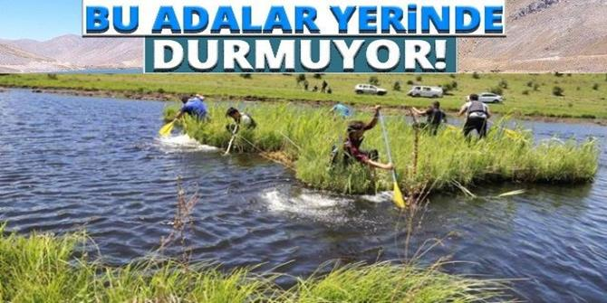 """Tortum'un """"yüzen adalar""""ı turizme kazandırılacak"""