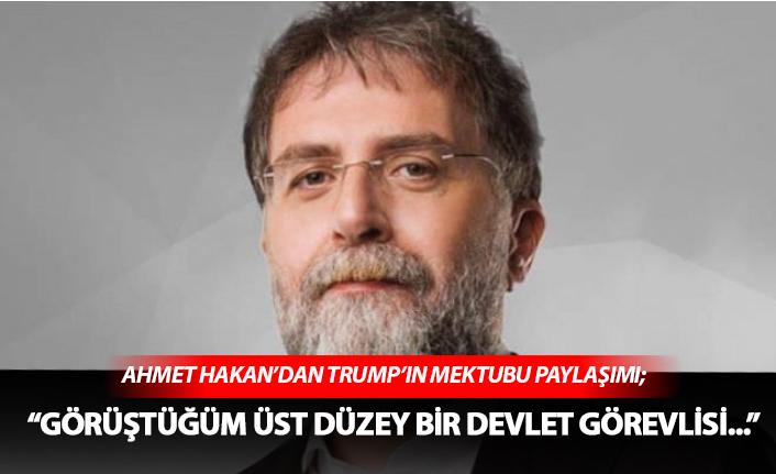 Ahmet Hakan'dan, dikkat çeken paylaşım