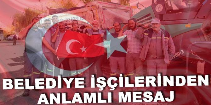 Yakutiye işcilerimizden kahraman Mehmetçiğe selam var!