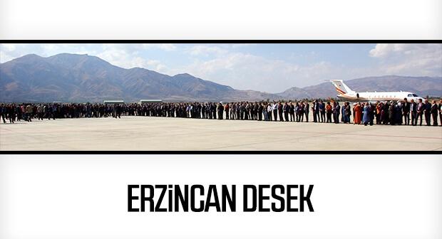 Binali Yıldırım'a memleketi Erzincan'da sıcak karşılama