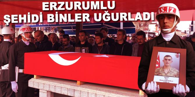 Erzurumlu şehit Ekşioğlu'nu binler uğurladı