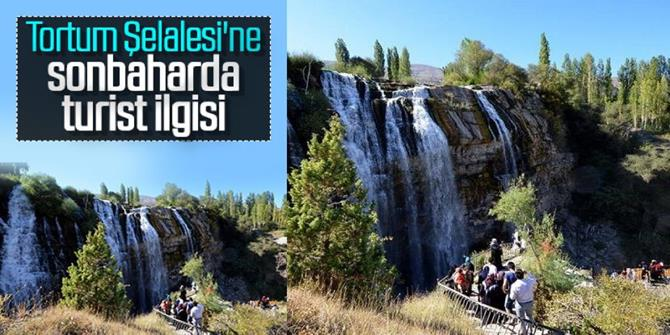 Tortum Şelalesi'ne sonbaharda turist ilgisi