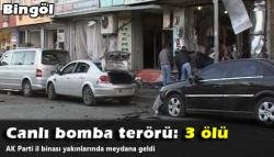 Canlı bombalı saldırı: 3 ölü