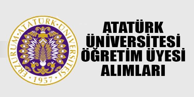 Atatürk Üniversitesi, 30 Öğretim Üyesi Alımı Yapacak