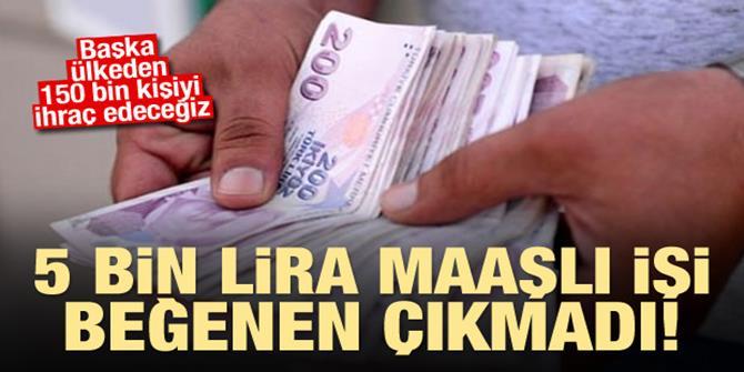 5 bin lira maaşı var ama çalışan yok!