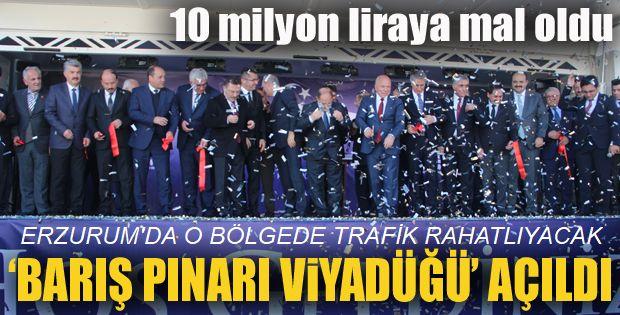 Erzurum'da yapılan 'Barış Pınarı Viyadüğü' açıldı
