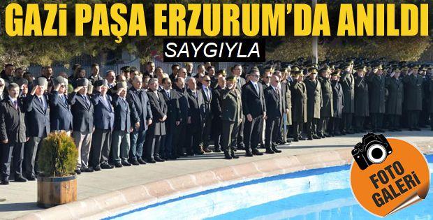 Büyük önder Erzurum'da anıldı