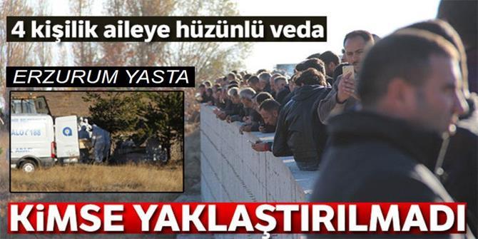 2'si çocuk 4 kişinin cenazesi Erzurum'da defnedildi
